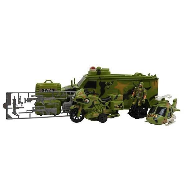 Vojna vozila 4 dela sa zvukom i svetlom - ODDO igračke