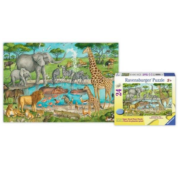 Ravensburger podne puzzle (slagalice) divlje životinje na pojilu RA05542 - ODDO igračke