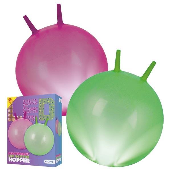 Lopta za skakanje sa LED svetlom 45-50cm 2ass 59006 - ODDO igračke