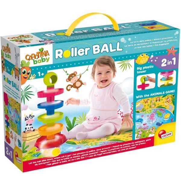 Carotina Edukativni baby 2u1 sa igrom zivotinja i Roller ball 76482 - ODDO igračke