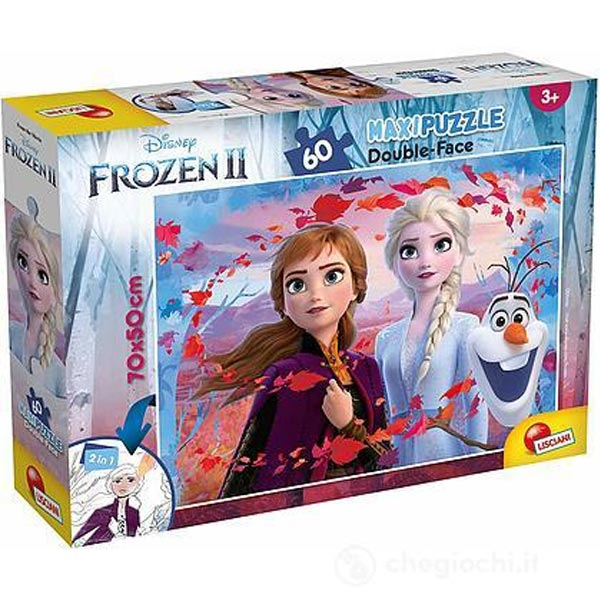 Slagalica Lisciani 60pcs Maxi Frozen II 2u1 složi i oboji 72286 - ODDO igračke