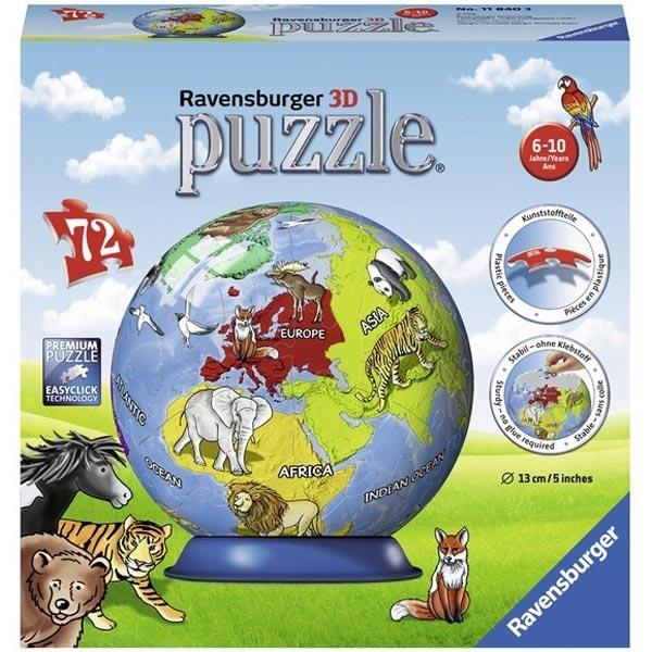 Ravensburger 3D puzzle (slagalice) Mapa sveta RA11840 - ODDO igračke