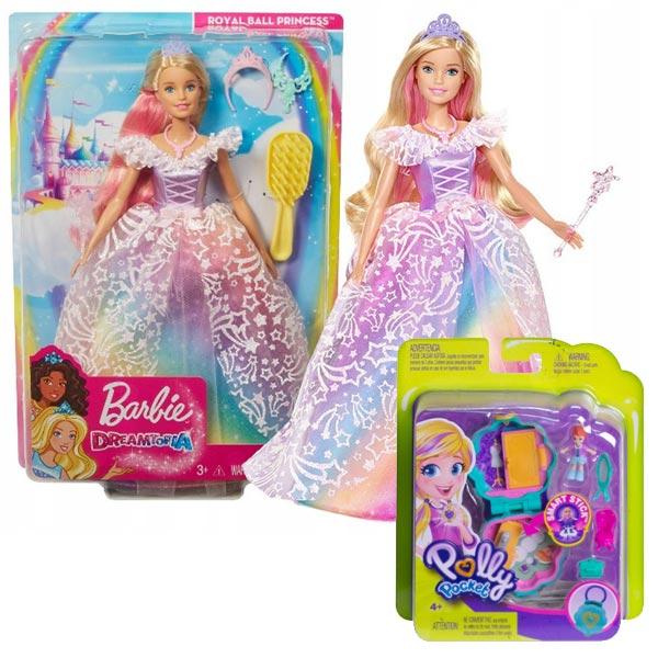 Barbie Dreamtopia Princeza kraljevski bal GFR45 + poklon set Polly Pocket osnovni set GCD62 - ODDO igračke