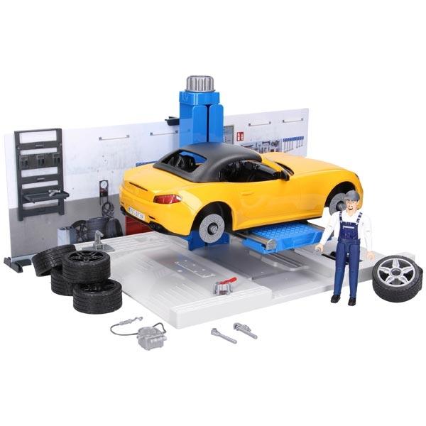 Auto servis sa figurama Bruder 621100 - ODDO igračke