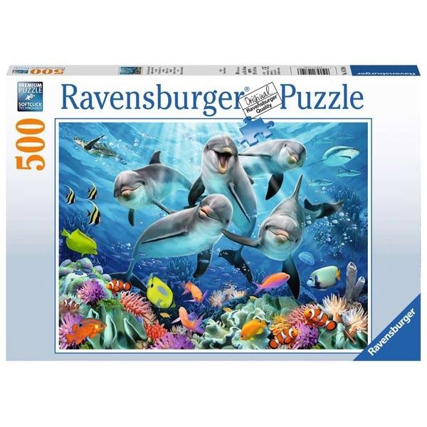 Ravensburger puzzle (slagalice) 500pcs Delfini RA14710 - ODDO igračke