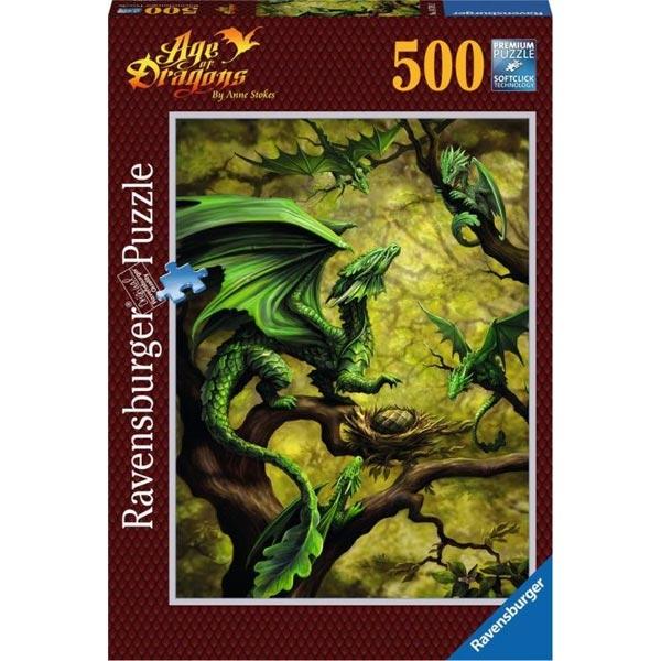 Ravensburger puzzle (slagalice) 500pcs Zmaj RA14789 - ODDO igračke