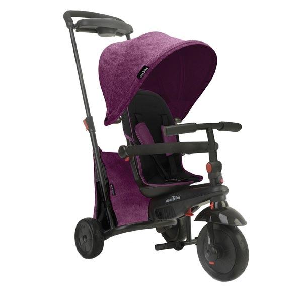 Tricikl sa ručkom i tendom Folding 500 Purple 5050600 - ODDO igračke