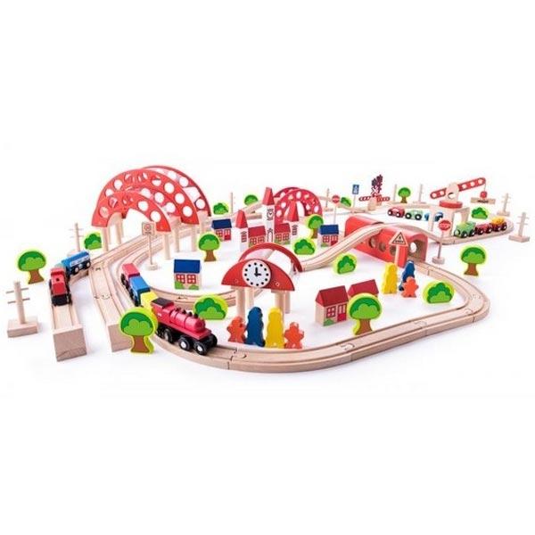 Woody Drvena Pruga 130 delova 92100 - ODDO igračke