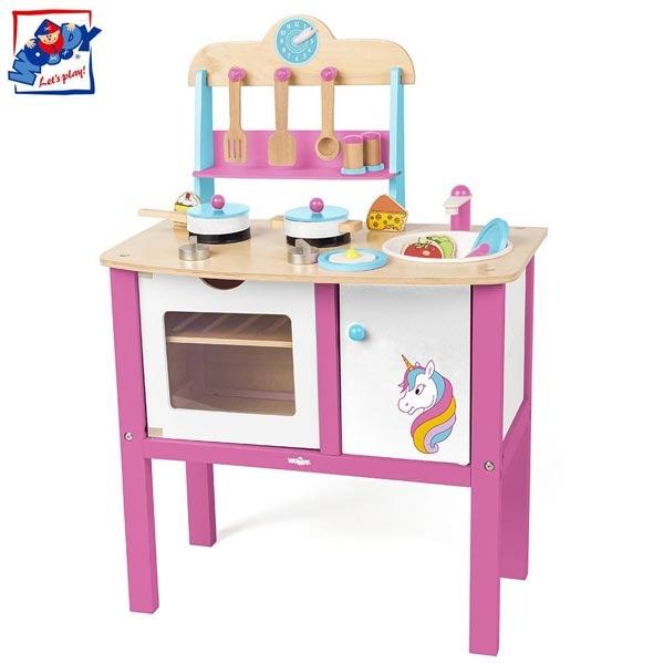 Kuhinja drvena Woody sa Motivom Jednoroga 90255 - ODDO igračke