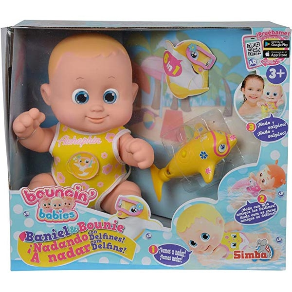 Lutka Beba Bounching Benny&Bunny sa delfinom B/O 105143215 - ODDO igračke