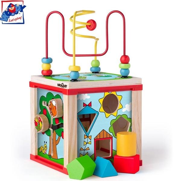 Woody Mala Drvena Didaktična kocka 91916 - ODDO igračke