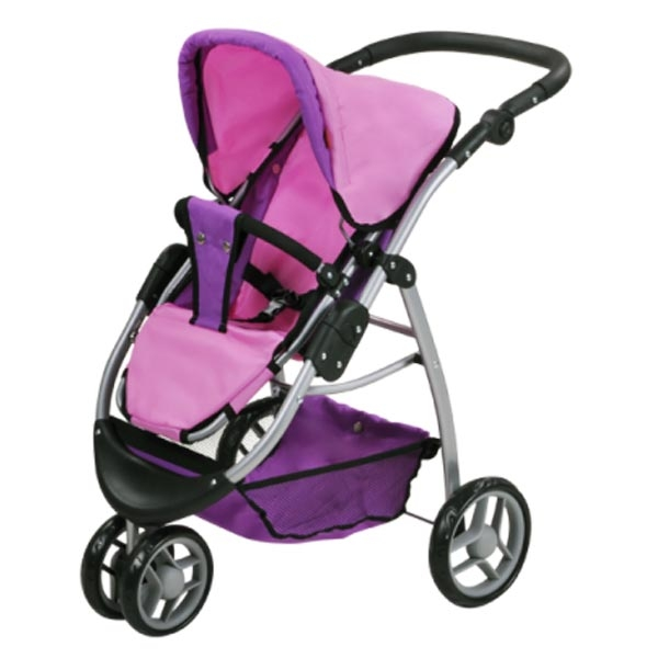 Kolica za lutke Knorr Toys Cico Pink Purple 90446 - ODDO igračke
