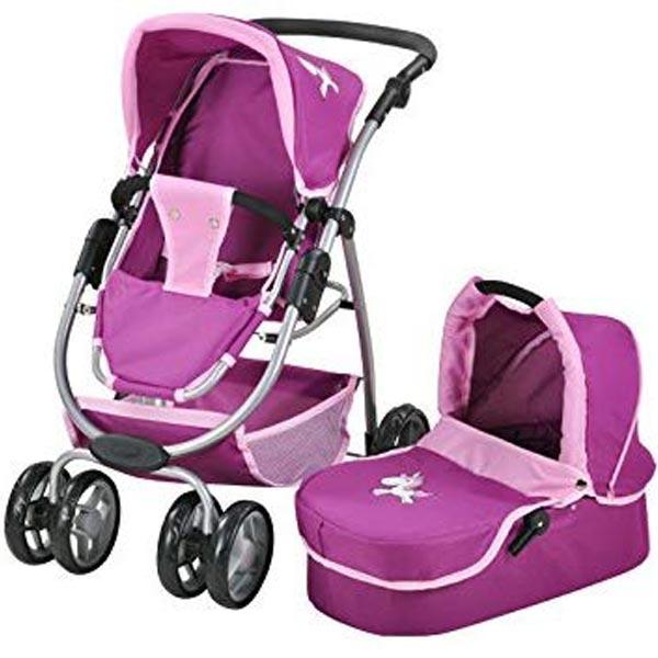 Kolica za lutke Knorr Toys COCO Jednorog Purple 90772 - ODDO igračke
