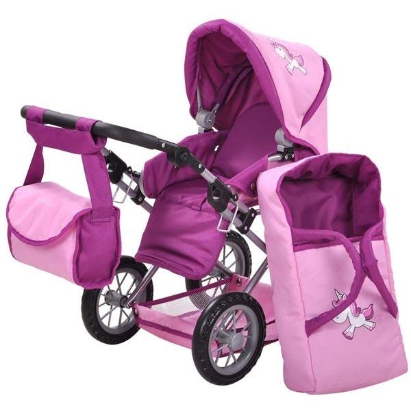 Kolica za lutke Knorr Toys Ruby Jednorog Pink 63174 - ODDO igračke
