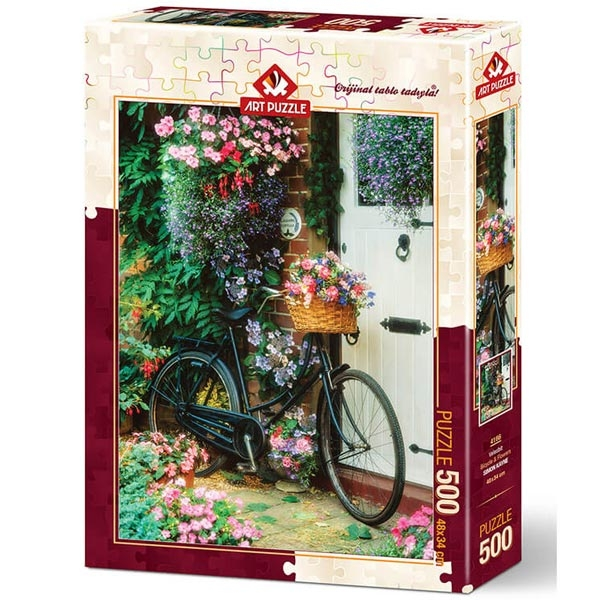 Art puzzle BICYCLE AND FLOWERS 500 pcs - ODDO igračke