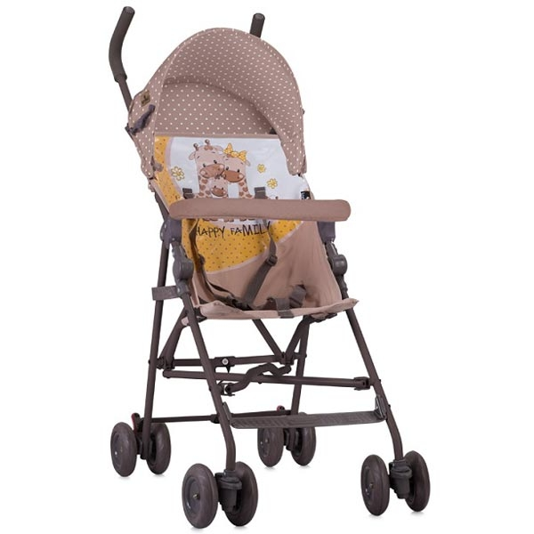 Kolica Light Beige Yellow Happy Family 10020471803 - ODDO igračke