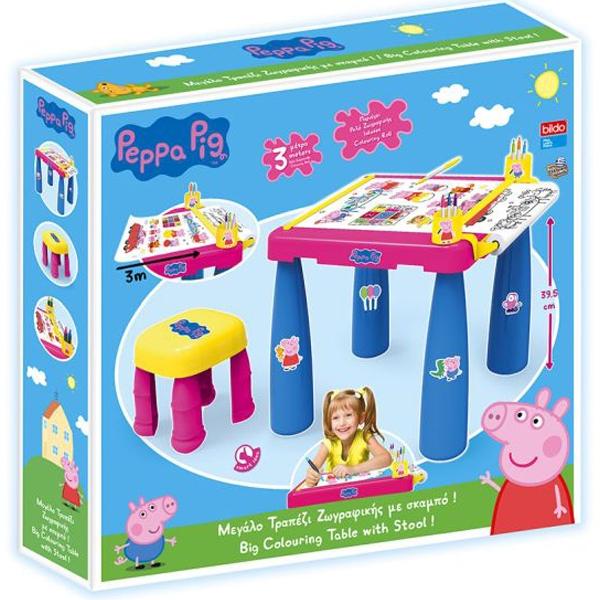 Sto i stolica sa setom za bojenje Peppa Pig - Pepa Prase 04/8117 - ODDO igračke