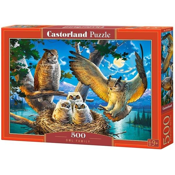 Castorland puzzla 500 Pcs Owl Family 53322 - ODDO igračke