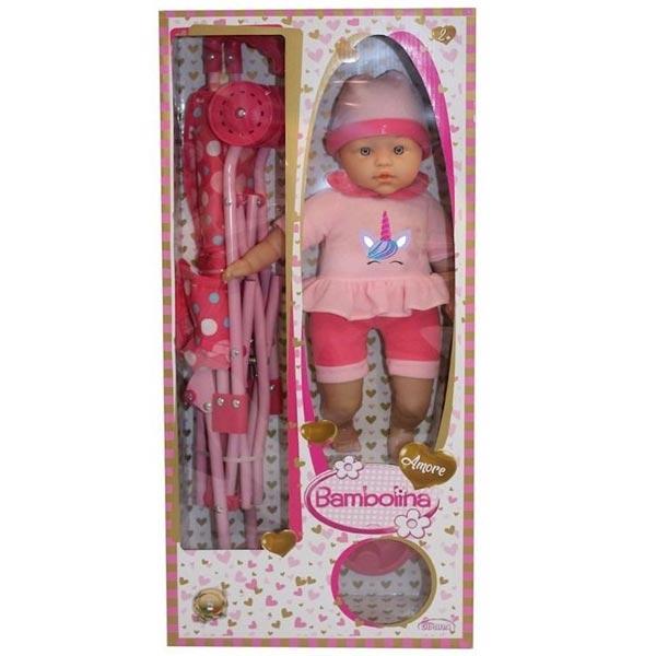 Bambolina Amore lutka 40cm sa kolicima BD1841 - ODDO igračke
