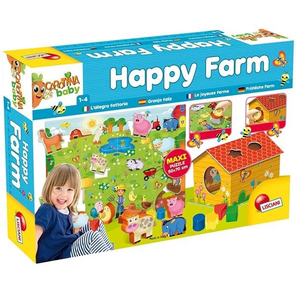 Carotina Edukativna igra slagalica Happy Farm Lisciani 72248 - ODDO igračke