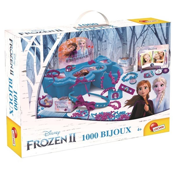 Frozen II 1000 Bijoux Kreativni set kutija sa nakitom Lisciani 73702 - ODDO igračke