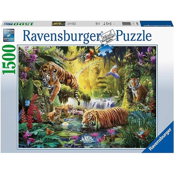 Ravensburger puzzle (slagalice) -Tranquil Tigers RA16005 1500 Pcs  - ODDO igračke