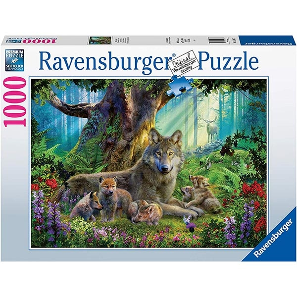 Ravensburger puzzle (slagalice) - 1000 pcs Wolves in The Forest RA15987 - ODDO igračke