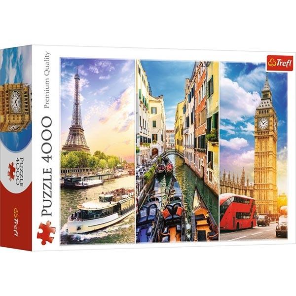 Trefl Puzzle 4000 pcs Journey through Europe 45009 - ODDO igračke