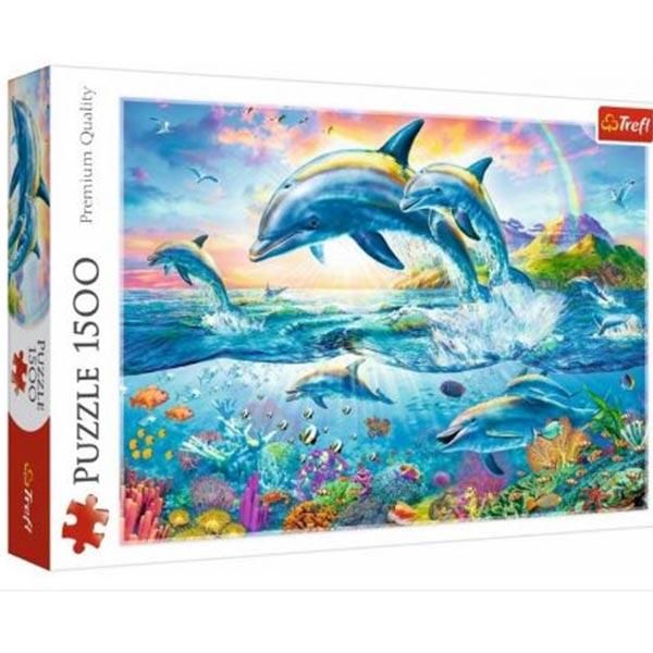 Trefl Puzzla 1500 pcs Dolphin Family 26162 - ODDO igračke