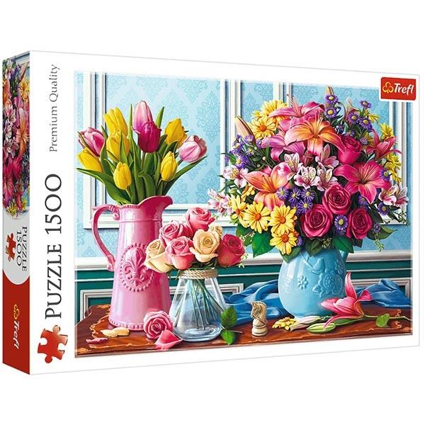 Trefl Puzzla 1500 pcs Flowers in vases 26157 - ODDO igračke