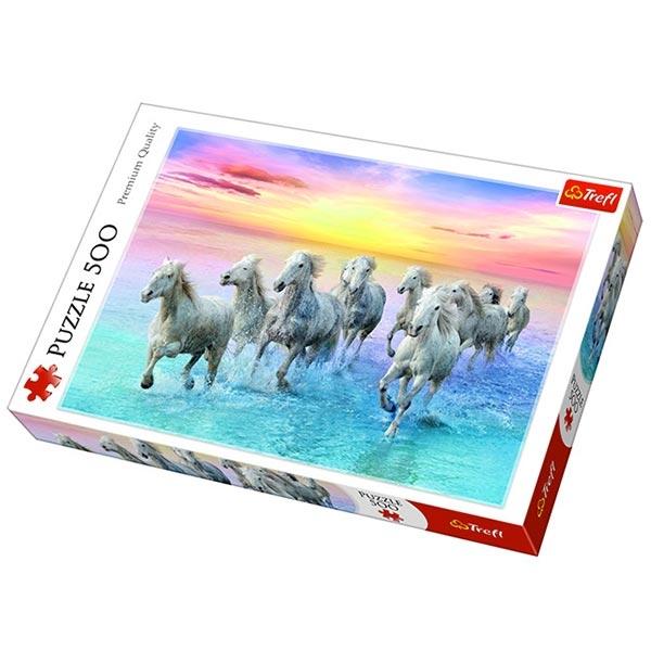 Trefl Puzzla 500 pcs Galloping white horses 37289 - ODDO igračke