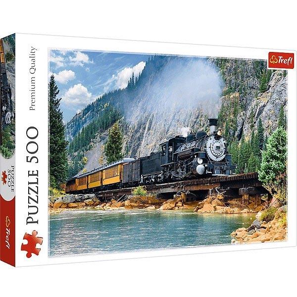 Trefl Puzzle 500 pcs Mountain Train 37379 - ODDO igračke