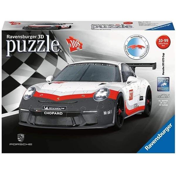 Ravensburger 3D puzzle (slagalice) - Porsche 911 GT3 Cup 108 del 11147 - ODDO igračke