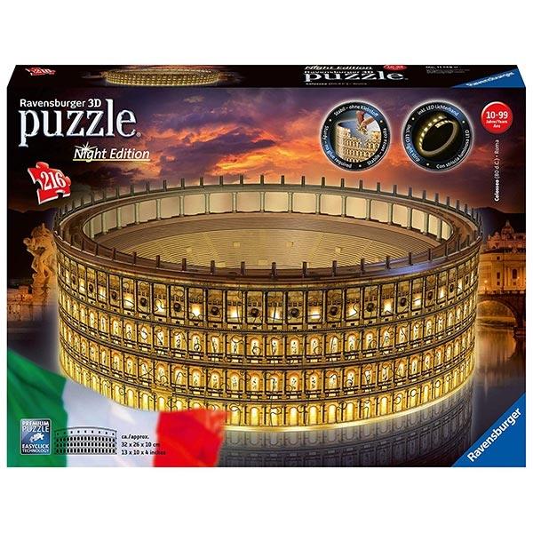 Ravensburger 3D puzzle (slagalice) - Koloseum noćno izdanje 216 del 11148 - ODDO igračke