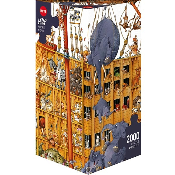 Heye puzzle 2000 pcs Triangle Loupe Nojeva Barka 25475 - ODDO igračke