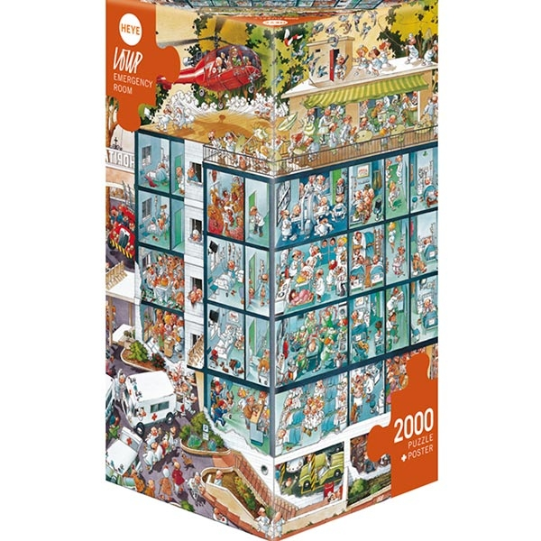 Heye puzzle 2000 pcs Triangle Loupe Hitna Pomoć 25784 - ODDO igračke