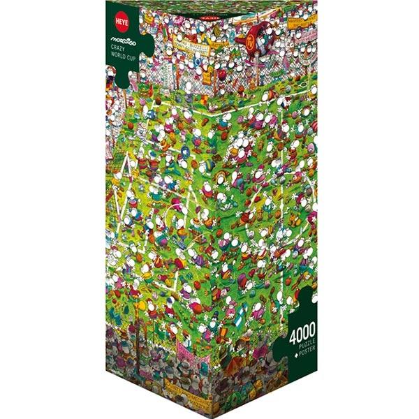Heye puzzle 4000 pcs Triangle Mordillo Ludo Fudbalsko Svetsko Prvenstvo 29072 - ODDO igračke