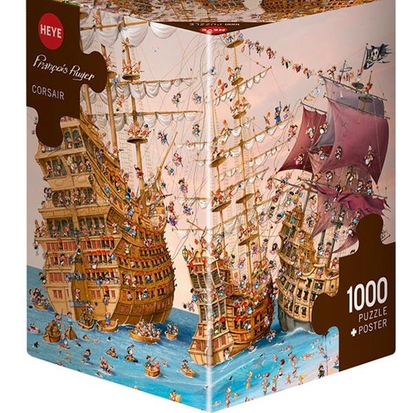 Heye puzzle 1000 pcs Triangle Ruyer Bitka Pirata 29570 - ODDO igračke
