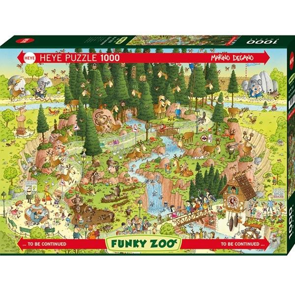 Heye puzzle 1000 pcs Degano Fanky Zoo Black Forest 29638 - ODDO igračke