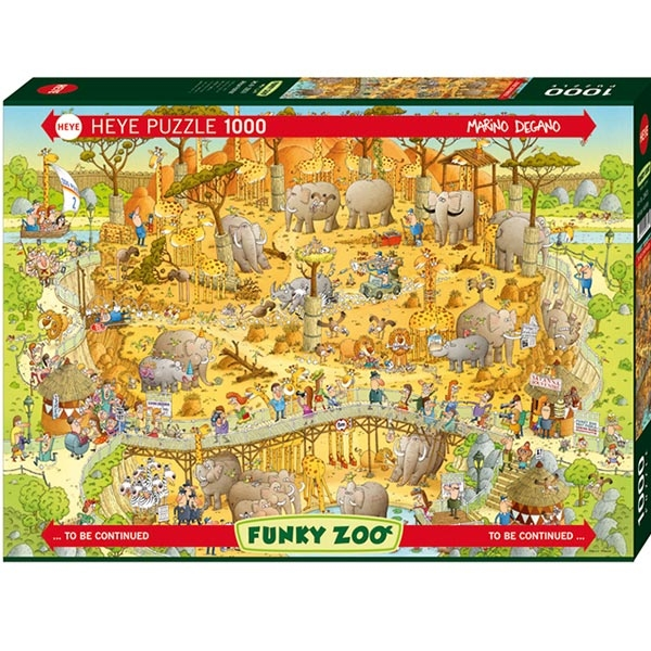 Heye puzzle 1000 pcs Degano Fanky Zoo Africa 29639 - ODDO igračke
