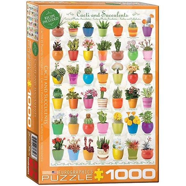 Eurographics Kaktusi i sukulenti 1000-Pieces Puzzle 0654 - ODDO igračke