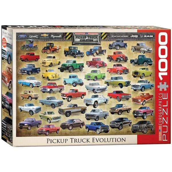 Eurographics Evolucija Pick Up kamioneta 1000-Pieces Puzzle 0681 - ODDO igračke