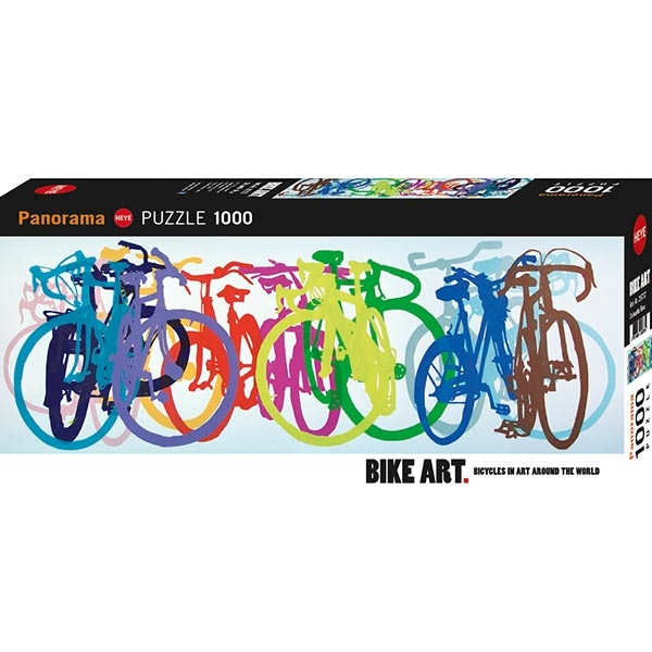 Heye puzzle 1000 pcs Bike Art Colourful Row 29737 | ODDO igračke