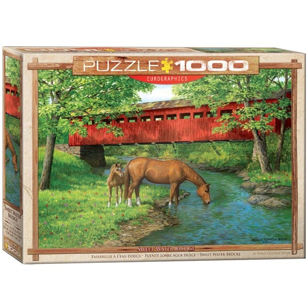 Eurographics Sweet Water Bridge by Weirs 1000-Pieces Puzzle 0834 - ODDO igračke