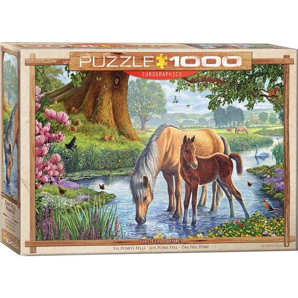 Eurographics The Fell Ponies by Steve Crisp 1000-Pieces Puzzle 0976 - ODDO igračke
