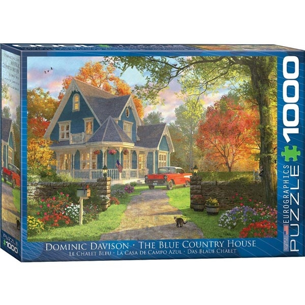 Eurographics Plava seoska kuća 1000-Pieces Puzzle 0978 - ODDO igračke
