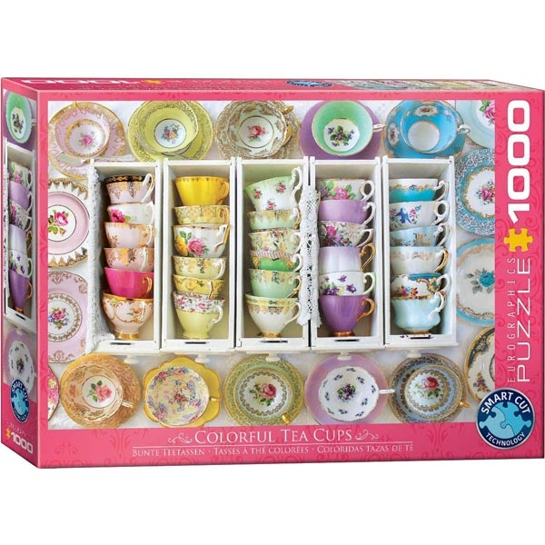 Eurographics Tea Cups Boxes 1000-Pieces Puzzle 5342 - ODDO igračke