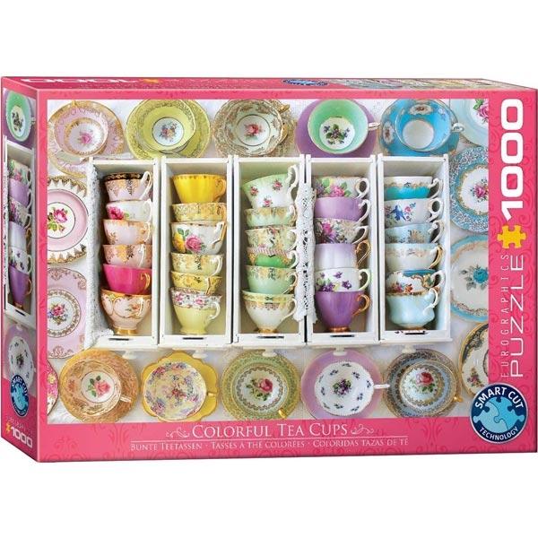 Eurographics Tea Cups Boxes 1000-Pieces Puzzle 5342 - ODDO igračke