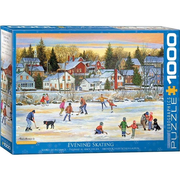 Eurographics Evening Skating by Bourque 1000-Pieces Puzzle 5439 - ODDO igračke
