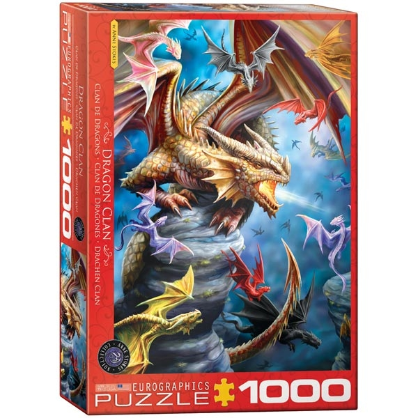 Eurographics Dragon Clan by Anne Stokes 1000-Pieces Puzzle 5475 - ODDO igračke